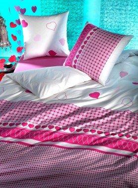"Kis.""HERZKLOPFEN""65x65cm pink - 1 - Ronja.ch"