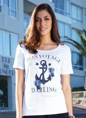 "D-KA-Shirt,""BON VOYAGE""weiss 38 001 - 1 - Ronja.ch"