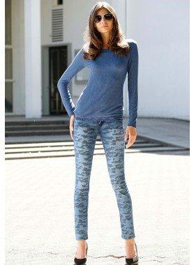 D-5P-Jeans,Tarn-Print Blue-D. 34 281 - 1 - Ronja.ch