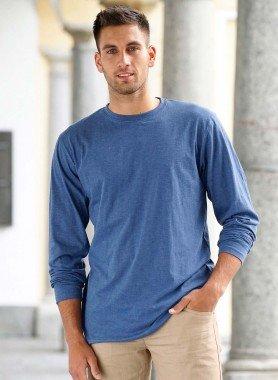 H-LA-Shirt,Rundhals indigo mel L 366 - 1 - Ronja.ch