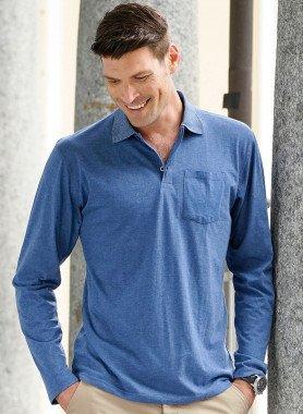 H-LA-Polo-Shirt indigo mel. L 366 - 1 - Ronja.ch