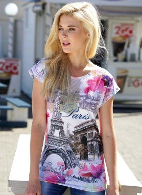 D-KA-Shirt *PARIS* multicolors L 058 - 1 - Ronja.ch