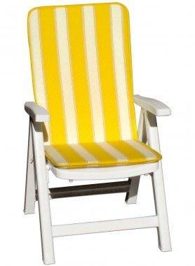 Cuscini per sedie  con schienale alto,  rigato