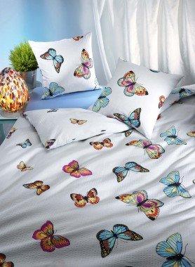Biancheria da letto in seersucker  «SCHMETTERLING»