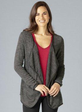 Cardigan ottica lana