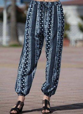 Pantalone,  bordura/fiori