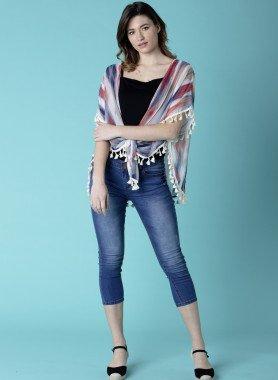 Jeans Capri 5 tasche, risvolti