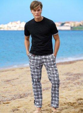 Pantalone tempo libero, quadri grandi