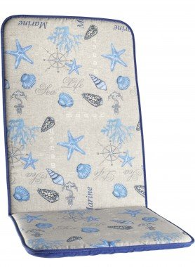 Cuscini per sedie schienale alto * Stelle marine*