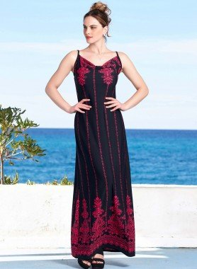Träger-Kleid, Ornament-Dessin