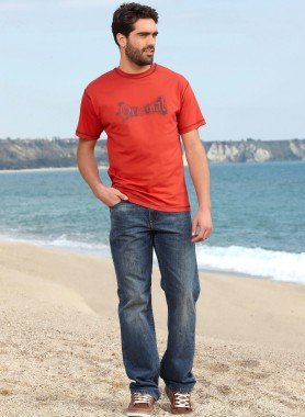 Jeans 5 tasche in Blue-Denim