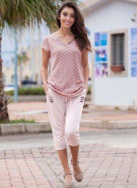 Pantalone Capri con toppe