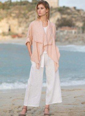 Pantaloni in lino, cintura
