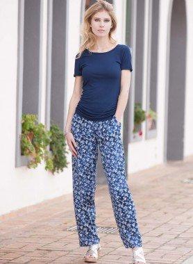 Pantaloni, motivo floreale