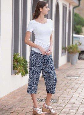 Pantaloni Capri, anelli stampati
