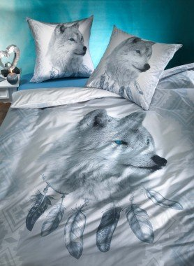 "Parure da letto, stampa digitale  ""POLAR-FOX"""