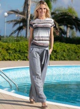 Pantalone di lino, cintura