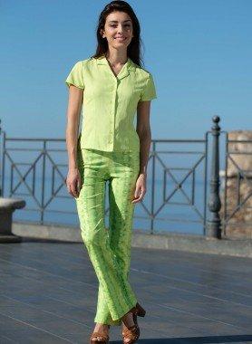 Pantalone color Batik verde o blu