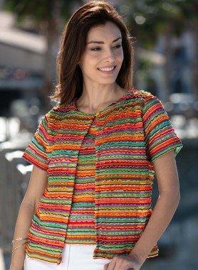 Piccola giacchetta multicolore
