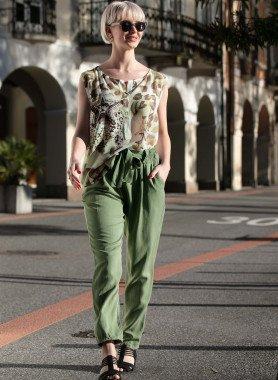 Pantaloni, cintura da annodare