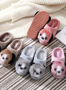 Pantofole per bambini, cuccioli di peluche