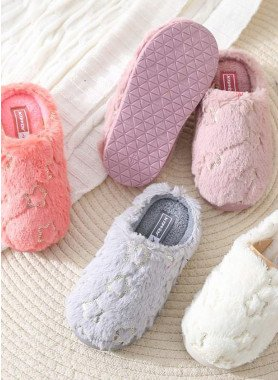 Pantofole per bambini, peluche con stelle