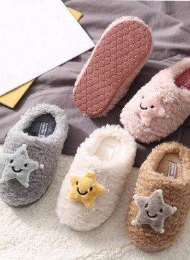 Pantofole per bambini, divertente stella