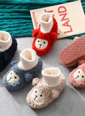 Pantofole per bambini, imit.lana d'agnello