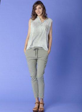 Pantalone, effetto sgualcito