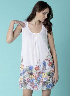 Aermelloses-Kleid, Floral-Print