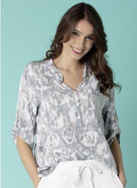 1/2-Arm-Bluse, Animal-Print