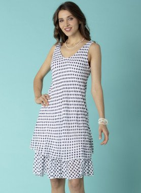 Aermelloses-Kleid, Tupfen