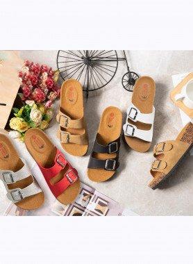 Sandalette,  doppia fibbia
