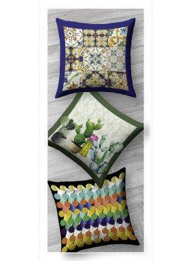 Cuscino decorativo, 3 diversi motivi