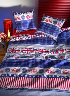 "Biancheria da letto  ""LONDON/NEWYORK"""