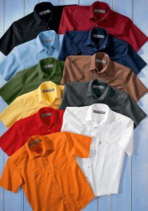 U-KA-Colors-Jeans Hemd,schwarz S 010 - 1 - Ronja.ch