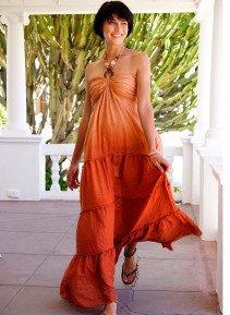 D-Neck.Kleid,Batik orange L 022 - 3 - Ronja.ch