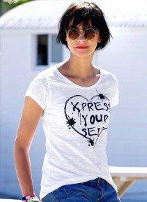 D-KA-Shirt,Herz-Print weiss L 001 - 1 - Ronja.ch