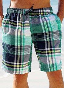 H-Bade-Shorts,Karo grün M 059 - 1 - Ronja.ch