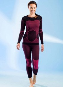 D-Thermohose,schwarz/pink S/M 398 - 1 - Ronja.ch