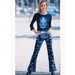 Pantalone Blue-Denim-Batik