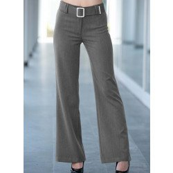 Pantalone gabardine, fibbia cromata