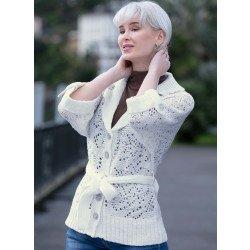 Giacca di maglia,eff. uncinetto