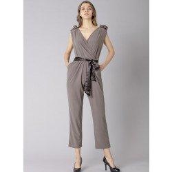 Overall con cintura di stoffa