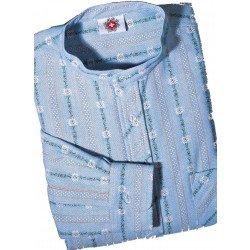Camicia  Edelweiss, m.lunghe, collo coreano