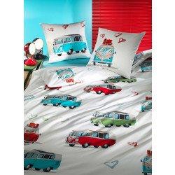 "Biancheria da letto  ""HIPPIE BUS"""