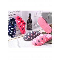 Pantofole da donna,  cuori stampati
